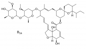 Chemical diagram for the drug ivermectin