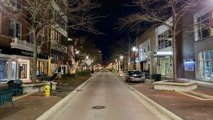 Downtown Kalamazoo road