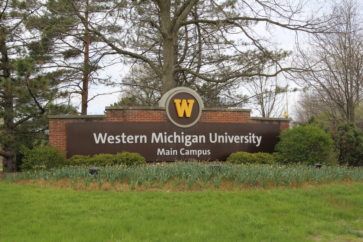 sign marking Western Michigan University's main campus