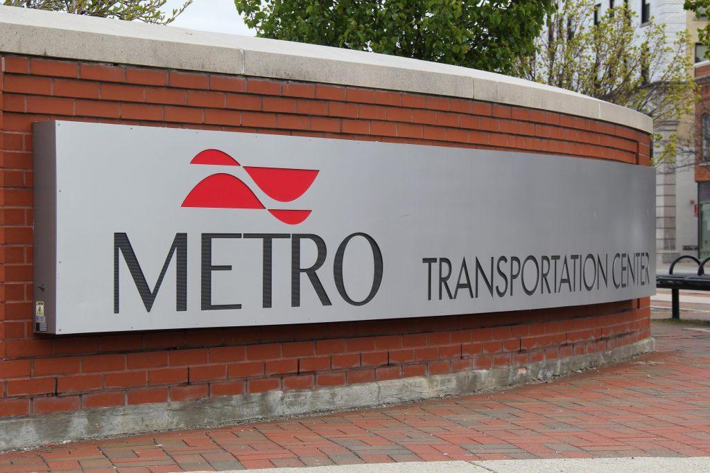 Metro Transportation Center sign