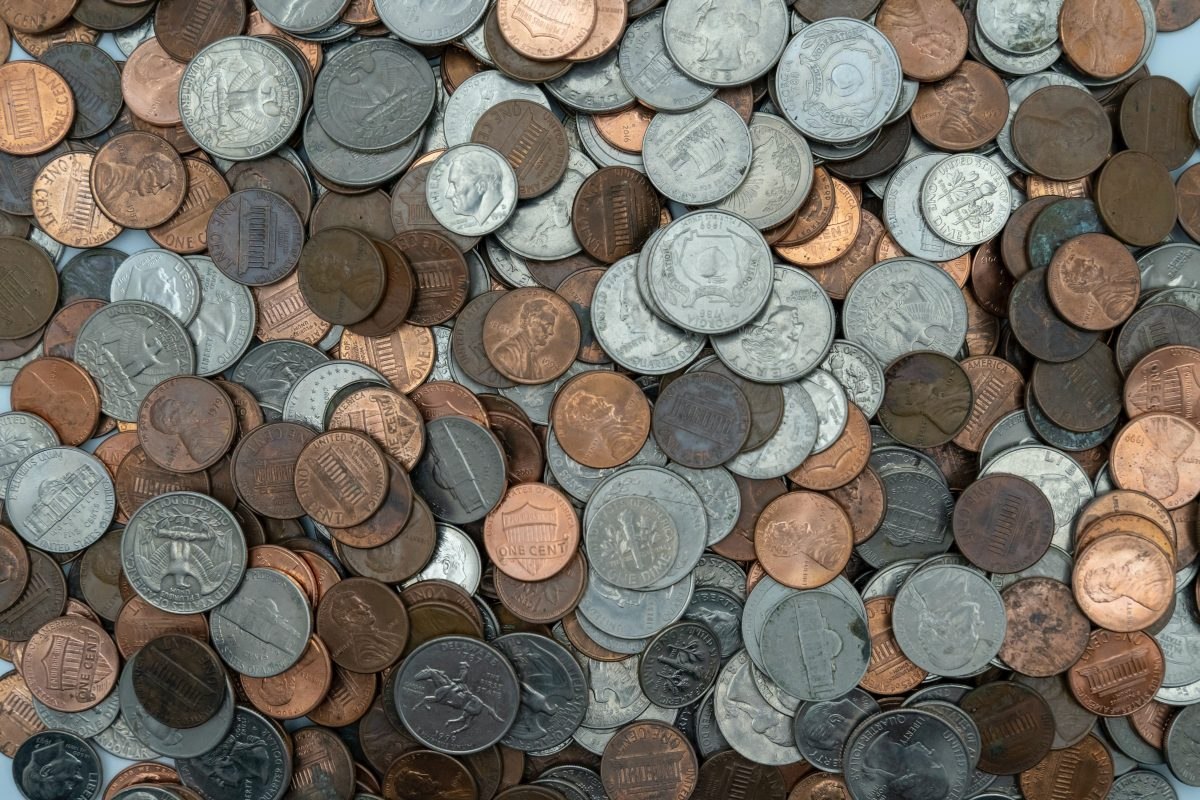 a lot of coins
