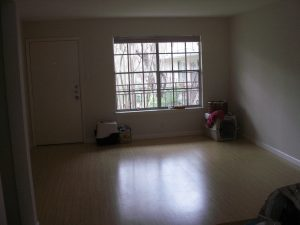 a mostly empty apartment living room