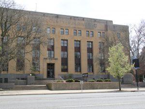 The Kalamazoo County courthouse in downtown Kalamazoo