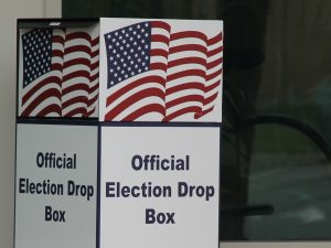 """a box marked """"official election drop box"""""""