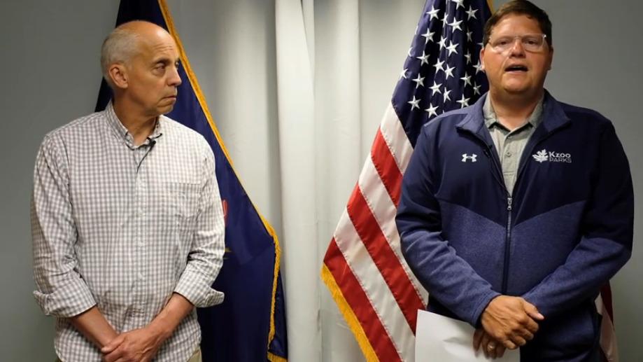 Mayor David Anderson and City Manager Jim Ritsema