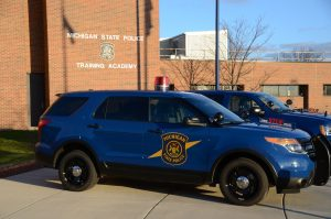 a Michigan State Police cruiser