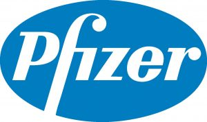 the logo for Pfizer