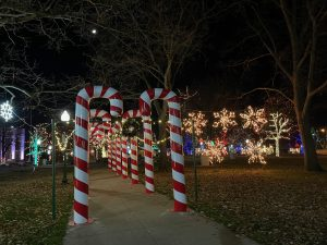 Kalamazoo's Bronson Park decorated for the holidays