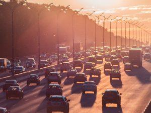 car traffic on a highway