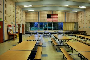 an elementary school cafeteria