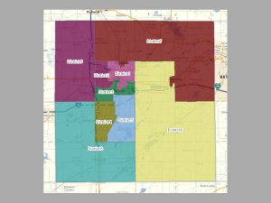 a map of the new 9-member kalamazoo county commission districts